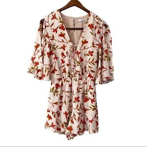 Lovers + Friends Epiphany Floral Romper Size XS